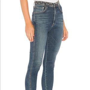 NWT Agolde Roxanne Skinny Jeans w/ Studs, size 24